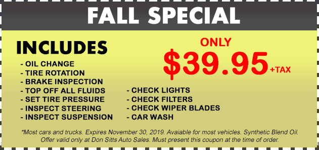 Fall Specials Coupon