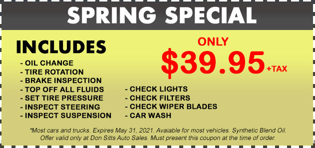 Spring Specials Coupon